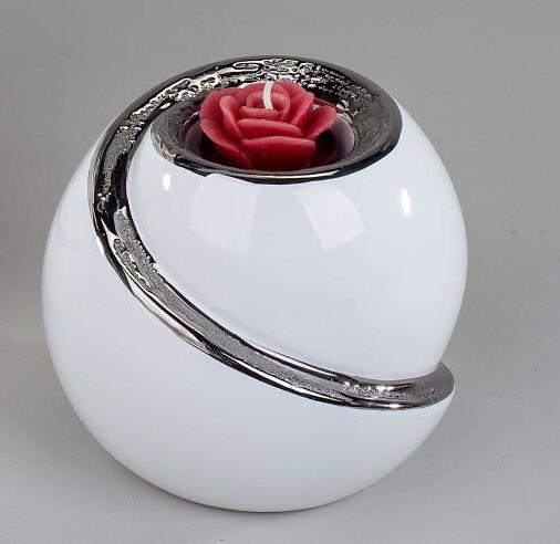 Formano Teelichtleuchter EDEL-WEISS 12cm