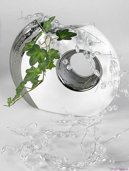 Formano Vase EDEL-WEISS mit Loch 19 cm