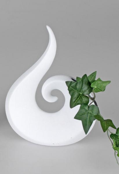 Forman Vase 23cm weiss