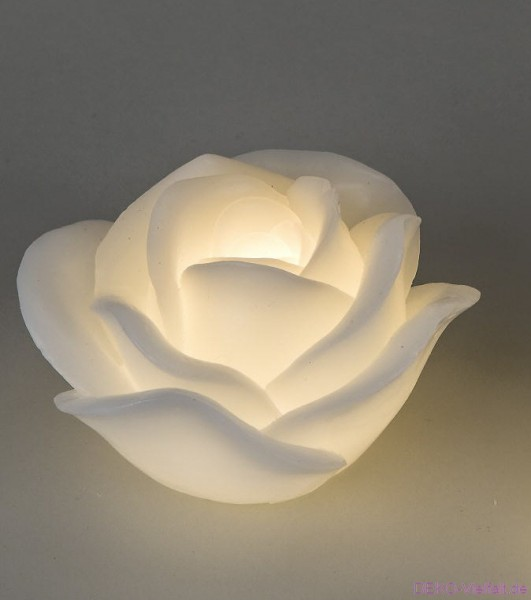 Formano LED - Kerze Rose weiß 13 cm