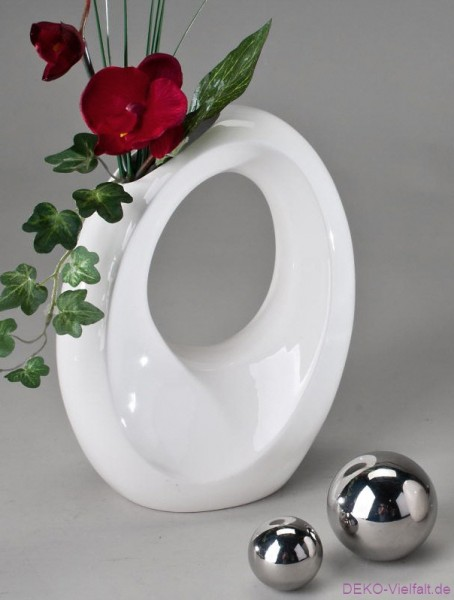 Formano Vase WEISS oval 17x22cm