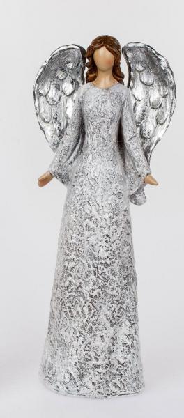 Formano Engel stehend, 37 cm creme-silbern